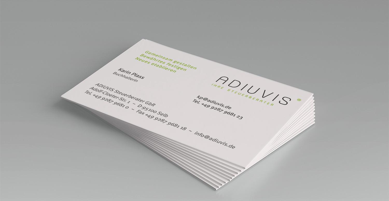 Visitenkarten ADIUVIS Fichtelgebirge