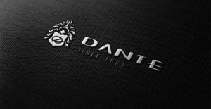 Gestickter Schriftzug Dante