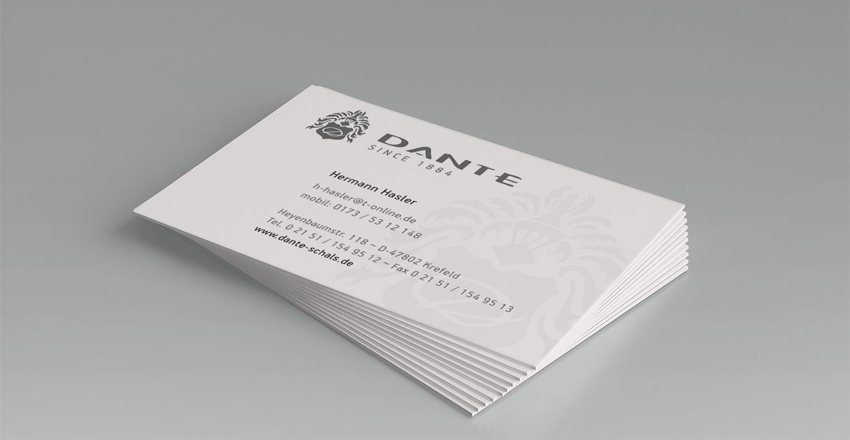 Visitenkarte Dante