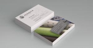 Vorder- und Rückseite Visitenkarte Dante