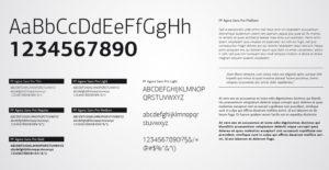 Zu sehen ist ein Schriftstück mit dem Alphabet, Ziffern und Zeichen in verschiedenen Schriftstilen