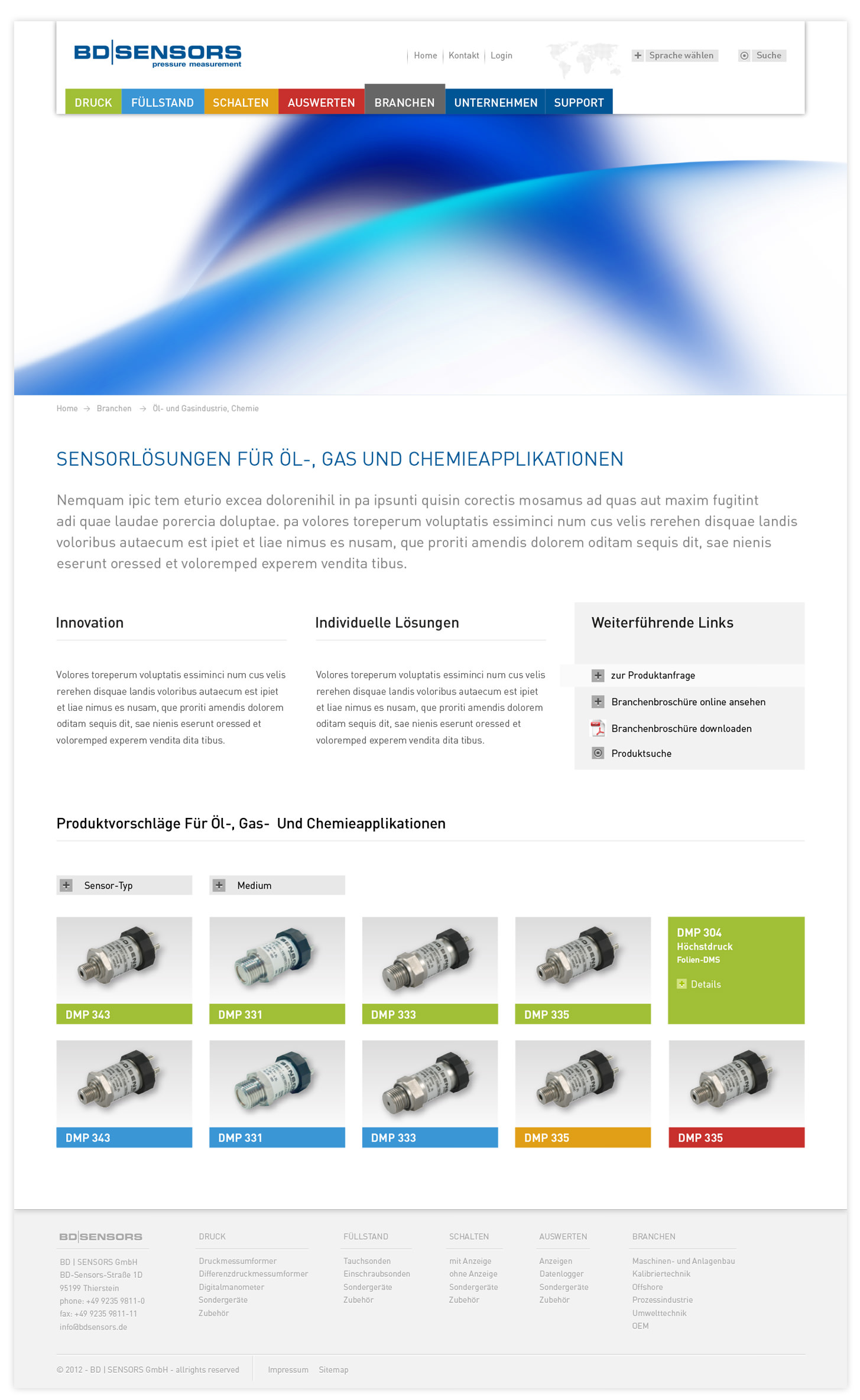 BD-Sensors Website