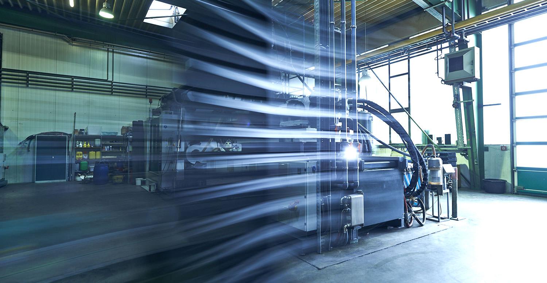 Aufnahme in der Werkshalle von PURUS PLASTICS