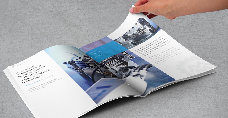 Imagebroschüre der Firma Müssel Maschinenbau