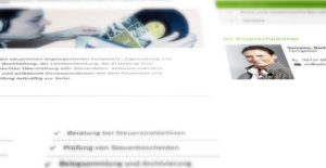Ausschnitt der Webseite Firma ADIUVIS