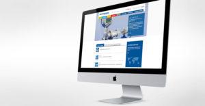 Monitor mit geöffneter BD Sensors Webseite