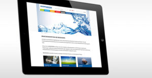 IPad mit geöffneter BD Sensors Webseite