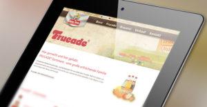 Ipad mit geöffneter Webseite der Firma Lang Bräu