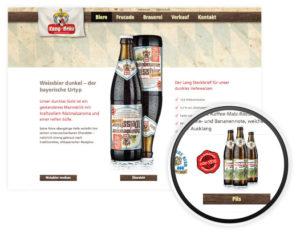 Webseite Lang Bräu